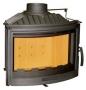 BeF 700 R - полукруглое стекло, комбинация чугун и огнеупорная сталь