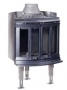 Каминная топка Jotul JOTUL I80 MAXI Harmony BP (чистое горение, угловая камера сгорания, цвет черный матовый)